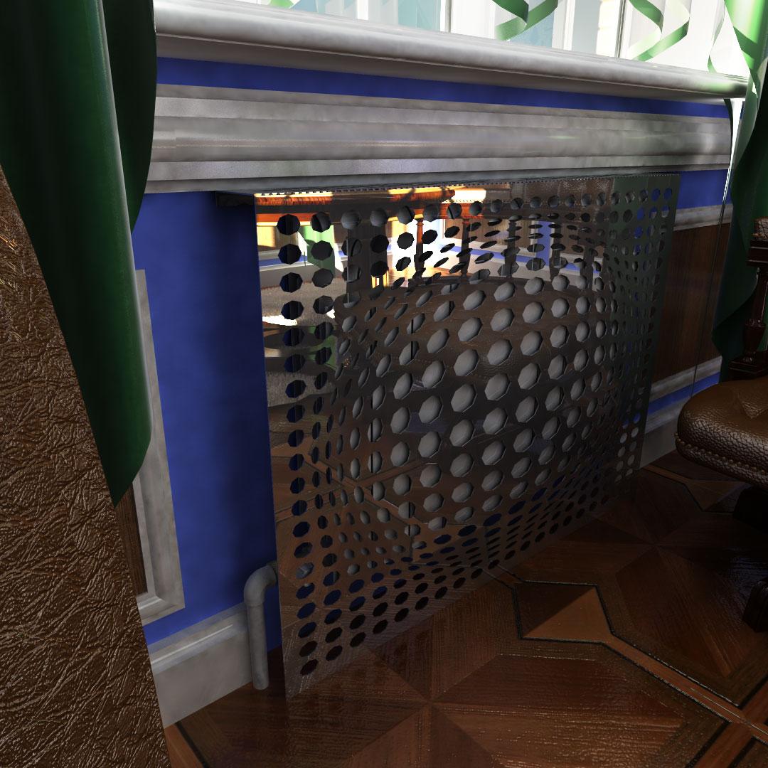 Экран декоративный зеркальный