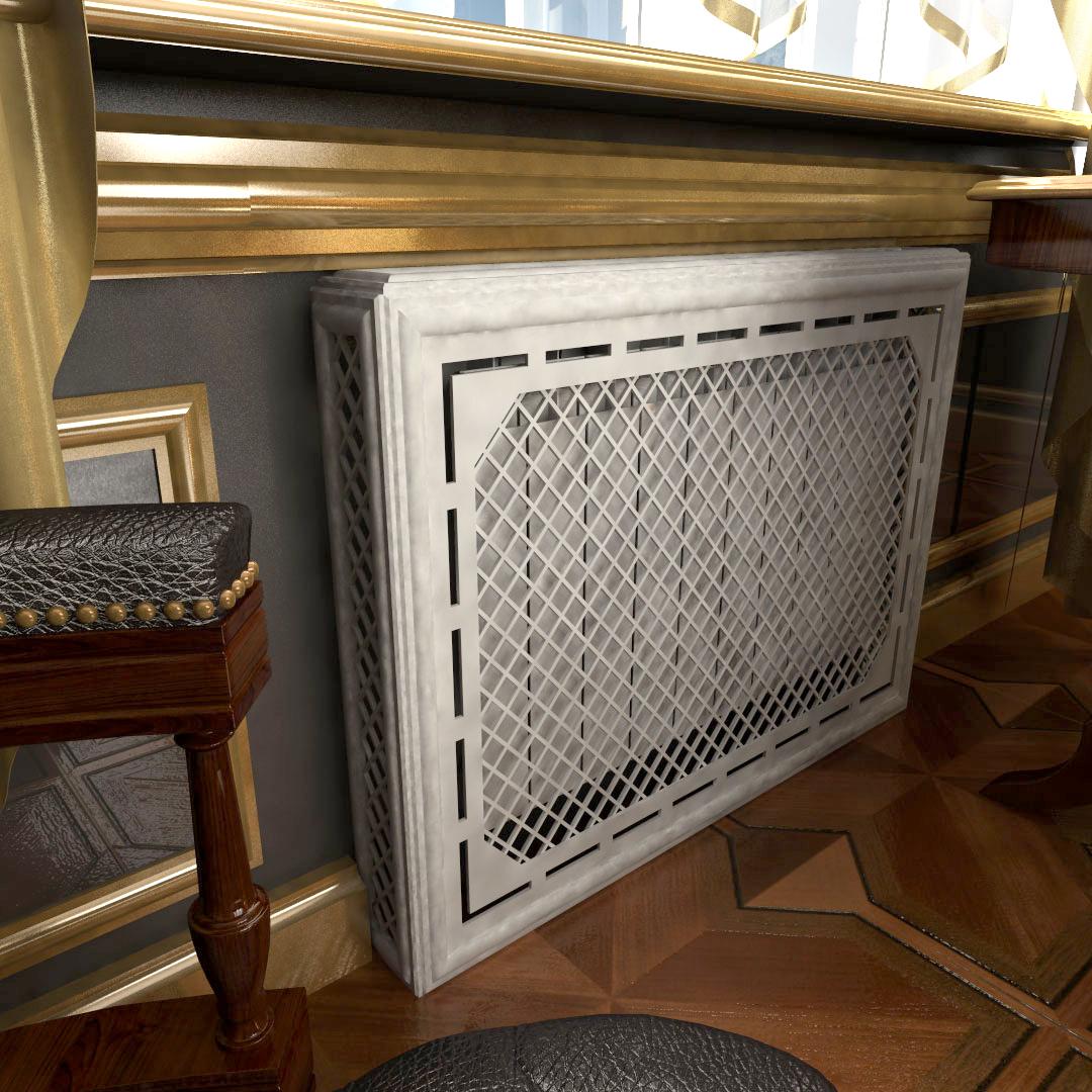 Экран отопления из МДФ короб