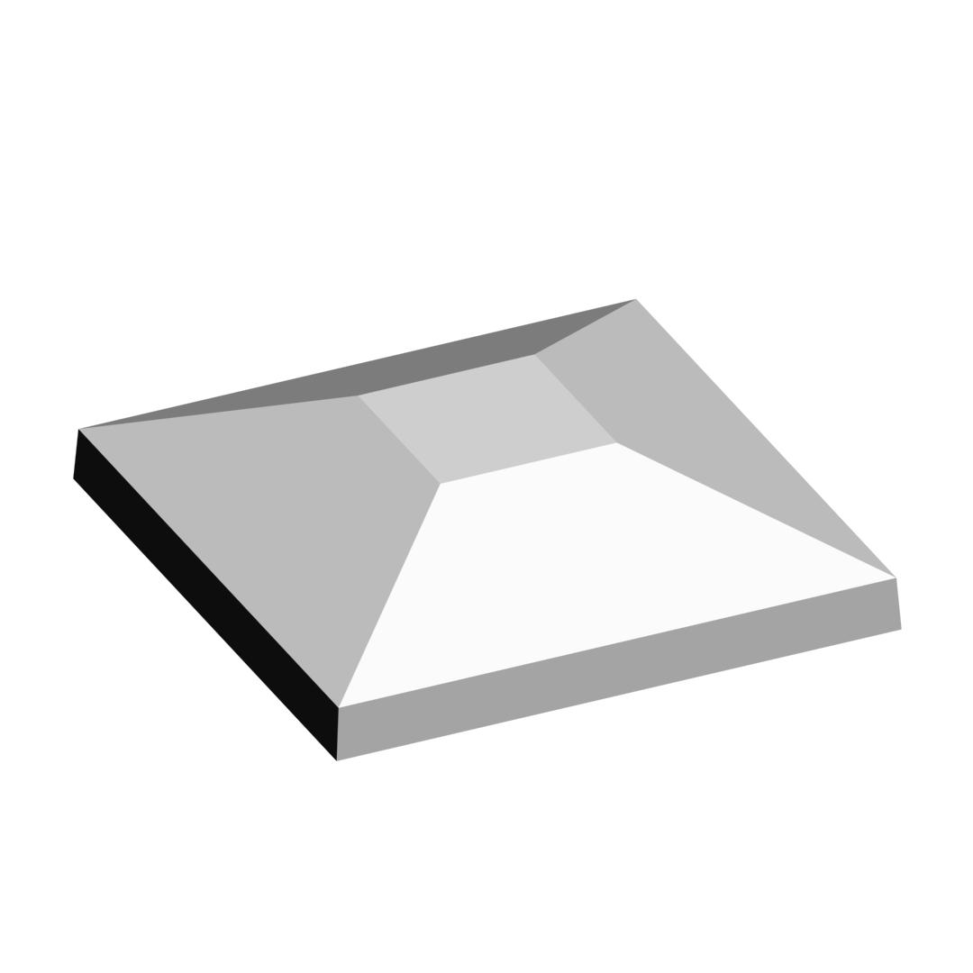 Колпак на забор пирамида 1×1 кирпич простой