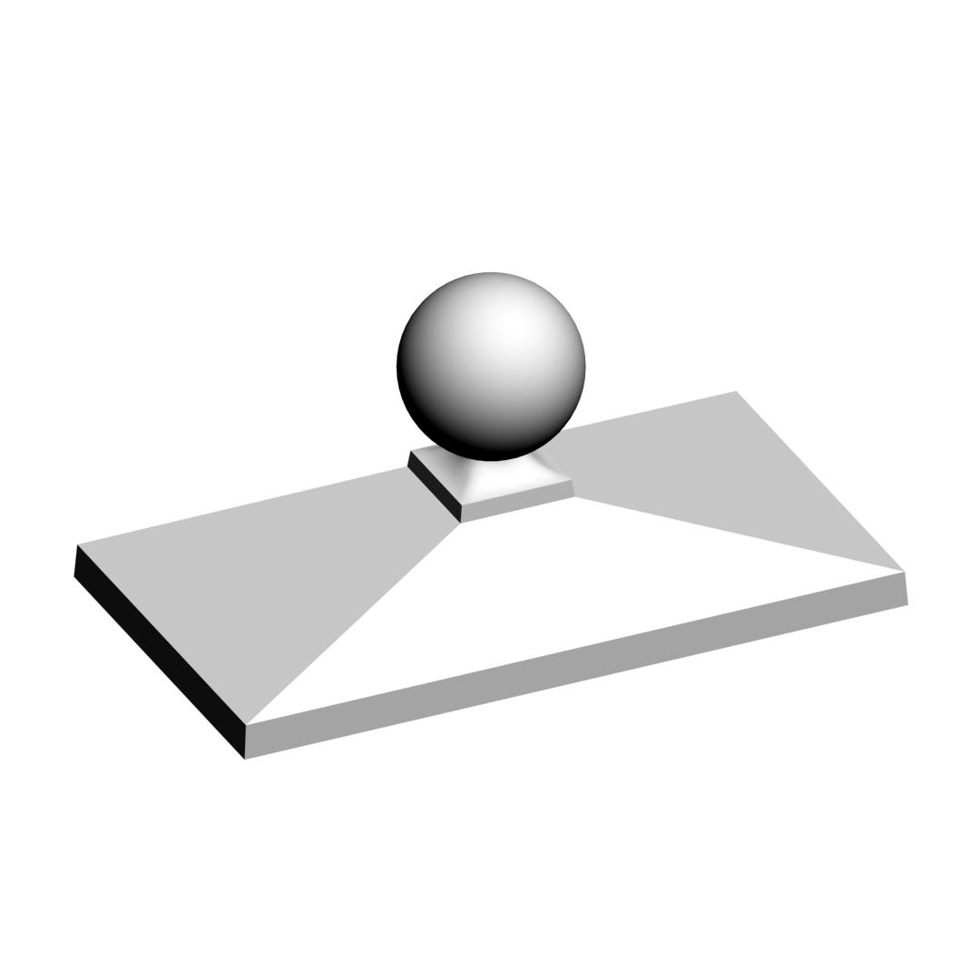 Колпак для забора пирамида 1×2 кирпича с украшением