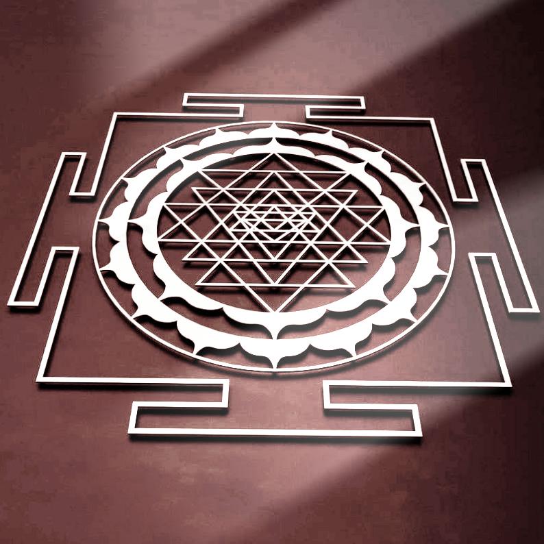 Символ из металла 'Шри - Янтра '