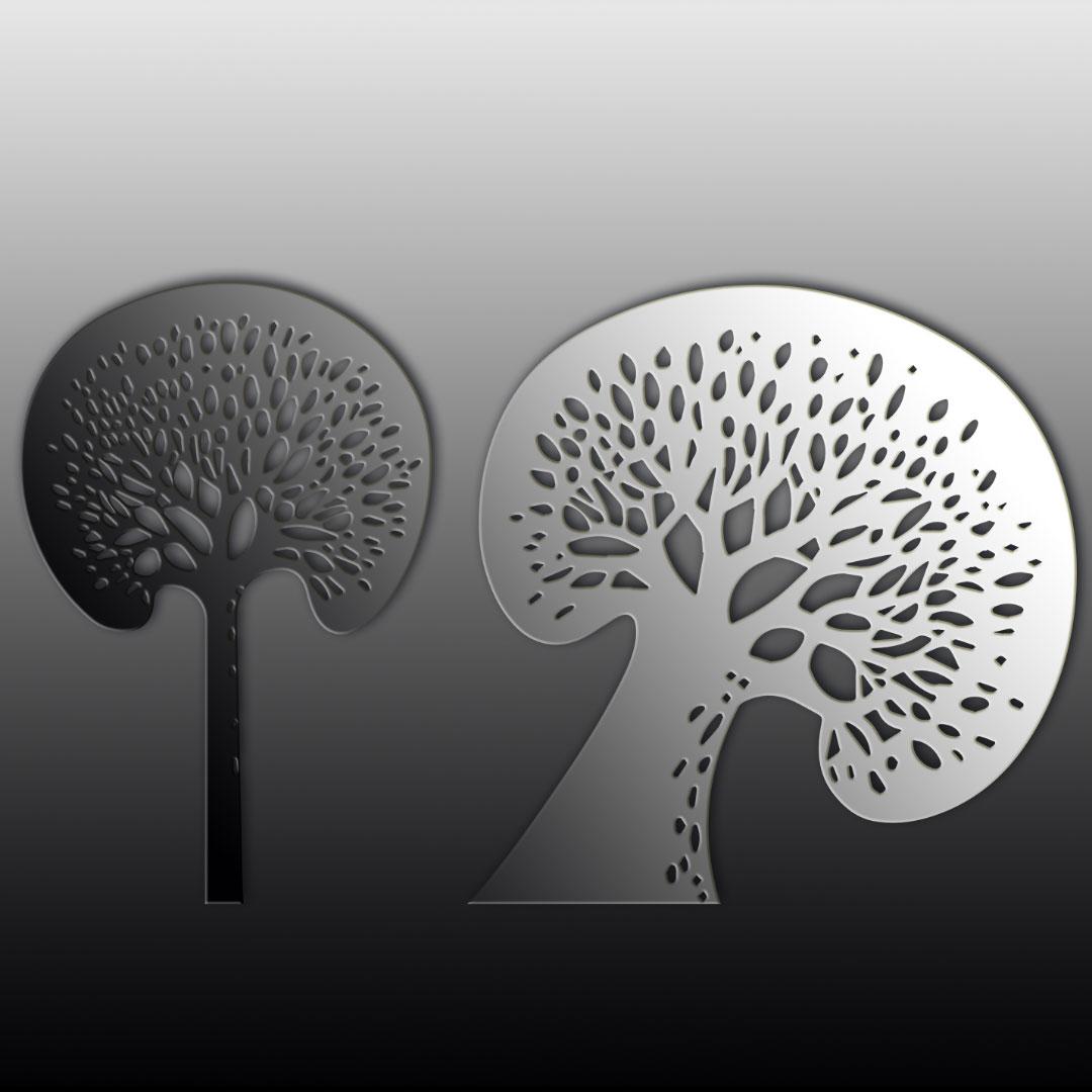 Настенное панно 1000×500 мм «Деревья» («Trees»)