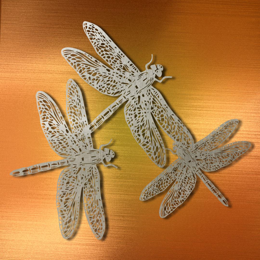 Металлический декор «Стрекозы» («Dragonflies»)