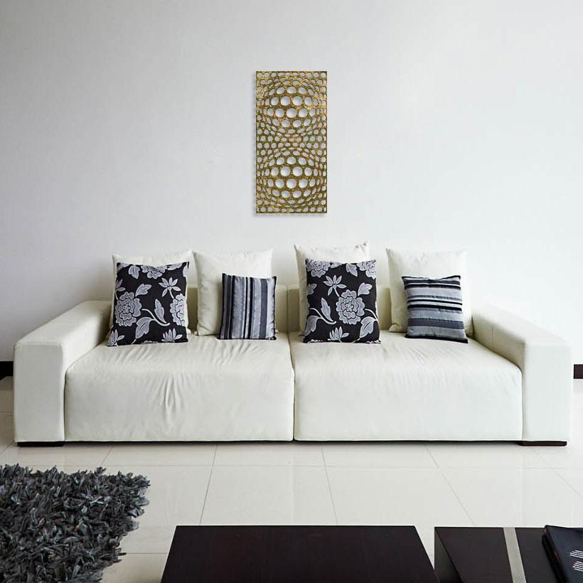 Панно в гостиной «Двойное увеличение» («Double Bulbs»)