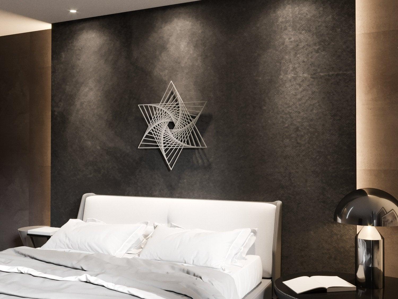 Украшение для стены из металла «Меркаба Вихрь» («Star»)