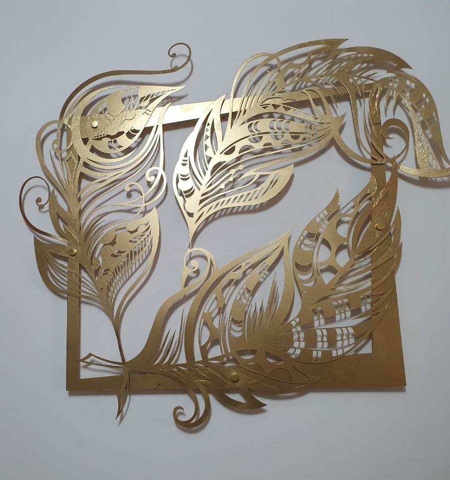 Панно на стену из металла «Перья» («Feathers»)
