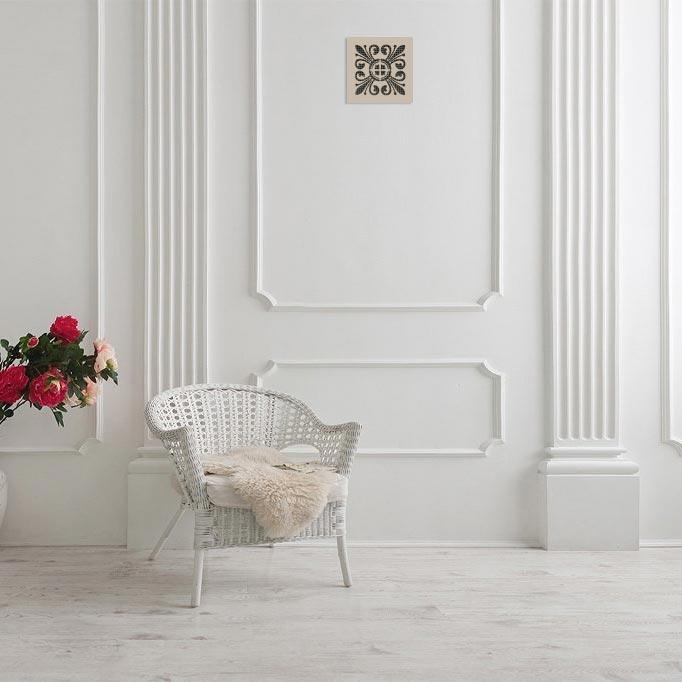 Вентрешётка 100×100 мм «Цветочная» («Floral»)