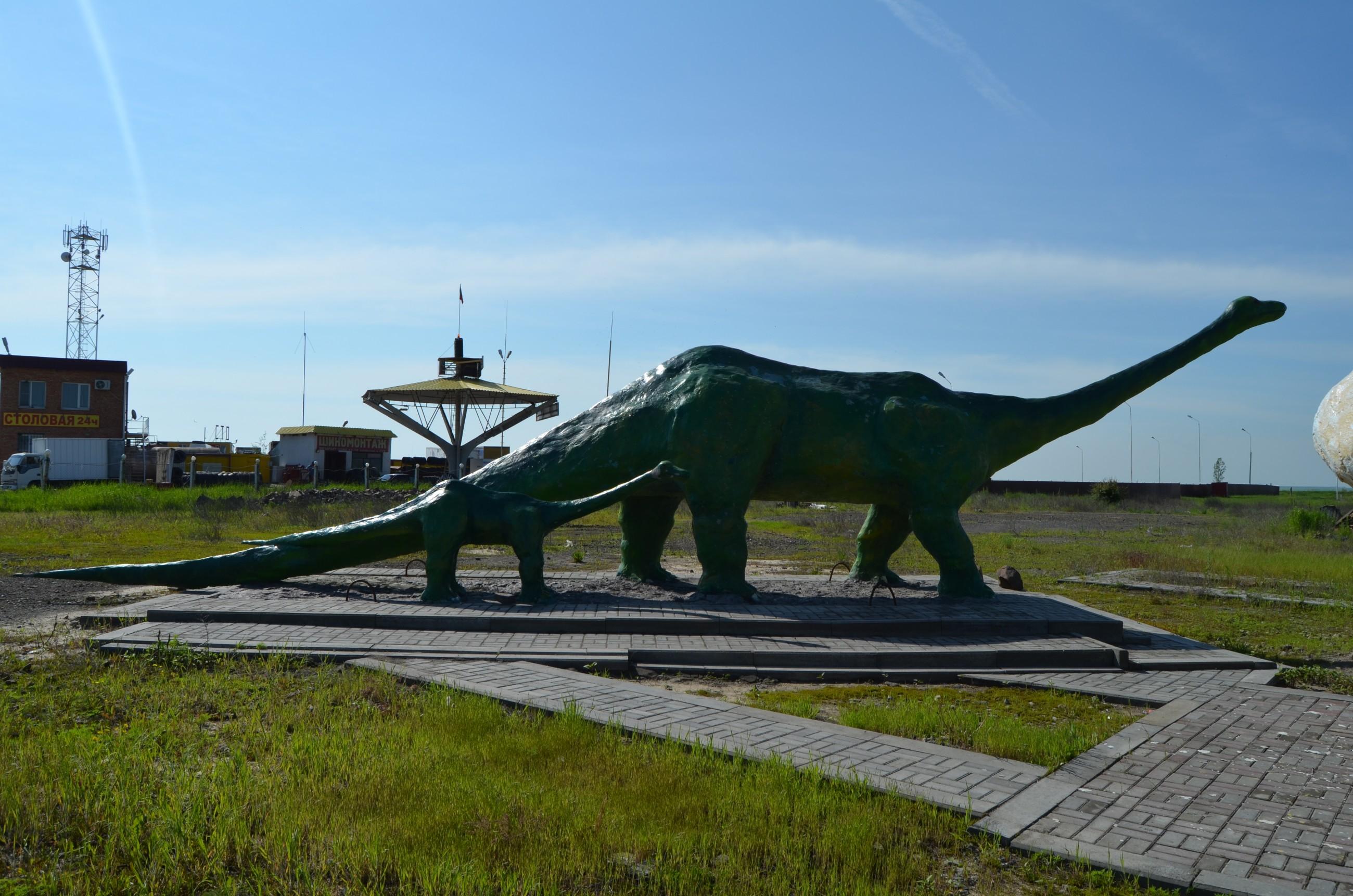 Скульптура из бетона Динозавры