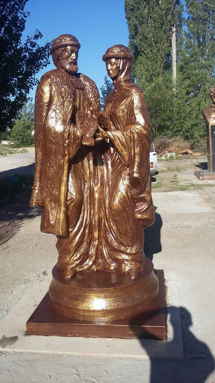 Скульптура из бетона Пётр и Февронья