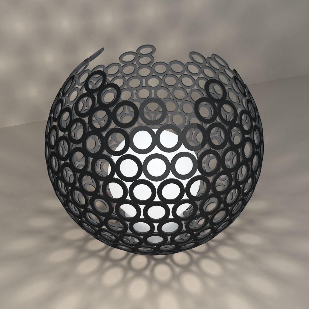 Светильник «Разорванный шар»