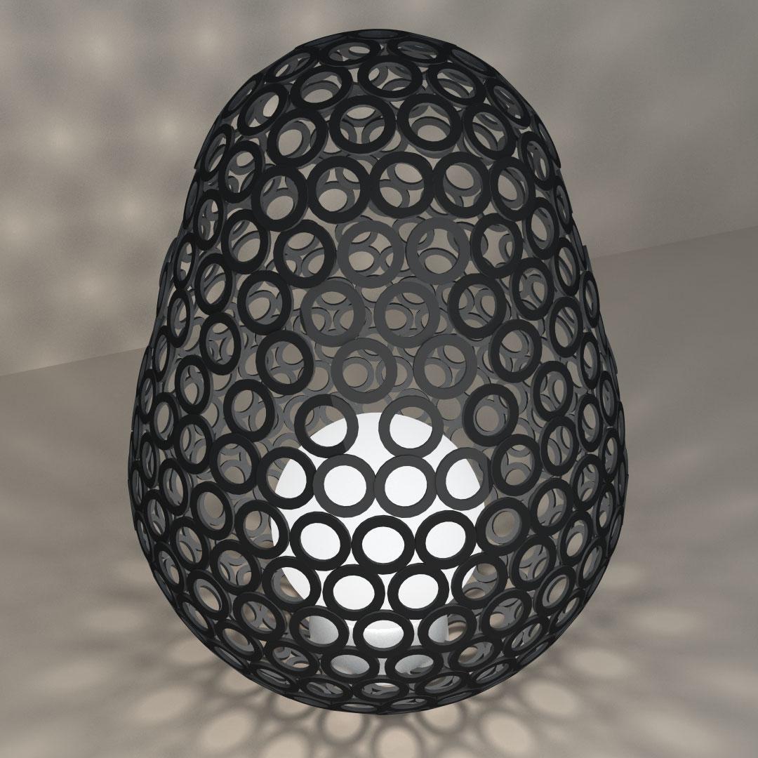 Светильник «Яйцо из колечек»