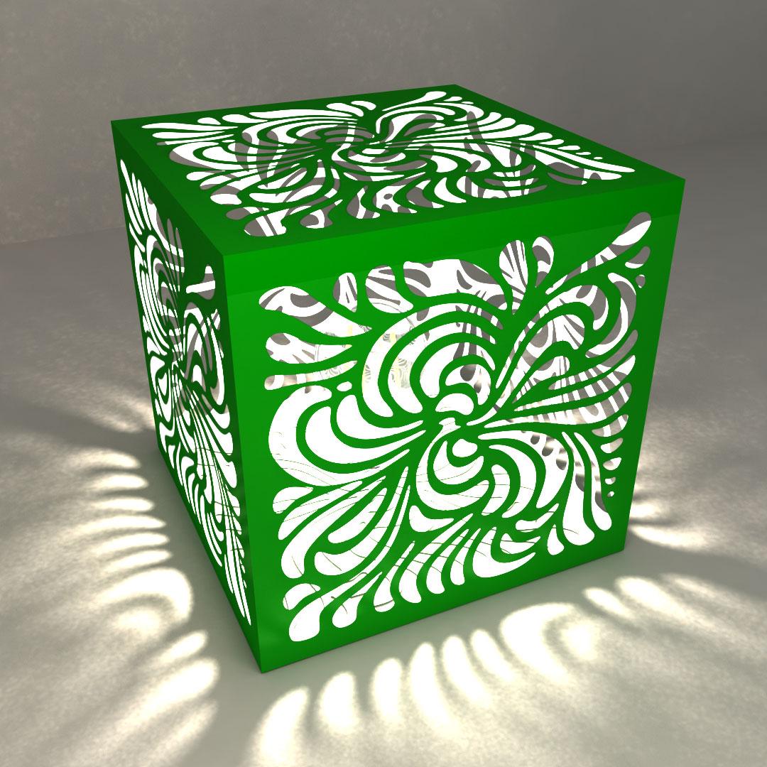 Светильник настольный «Цветочный куб»