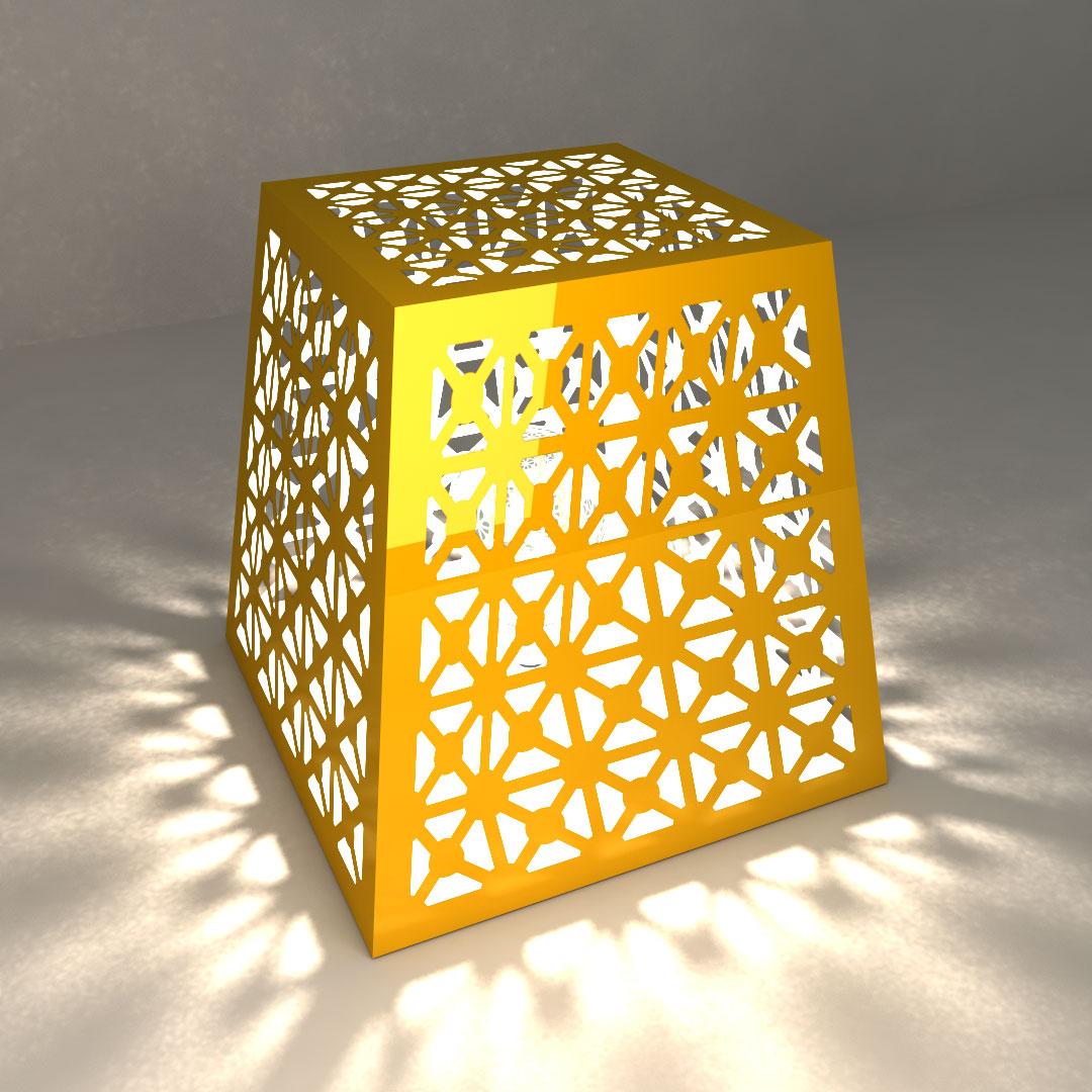 Светильник настольный «Сеточная пирамидка»