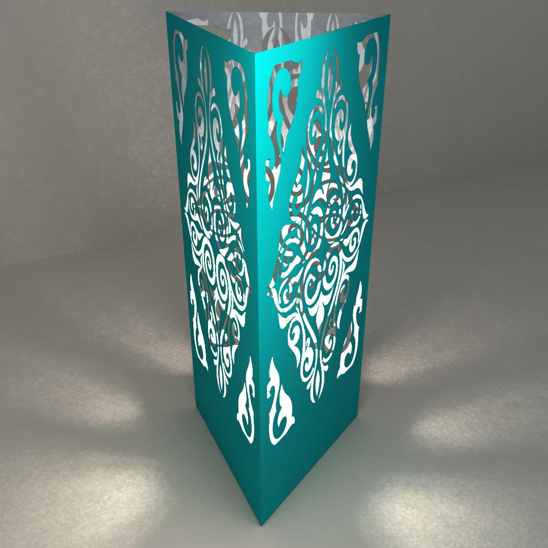 Светильник настольный «Треугольная призма»