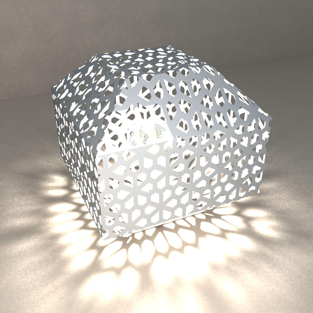 Светильник настольный «Сетчатый многогранник»