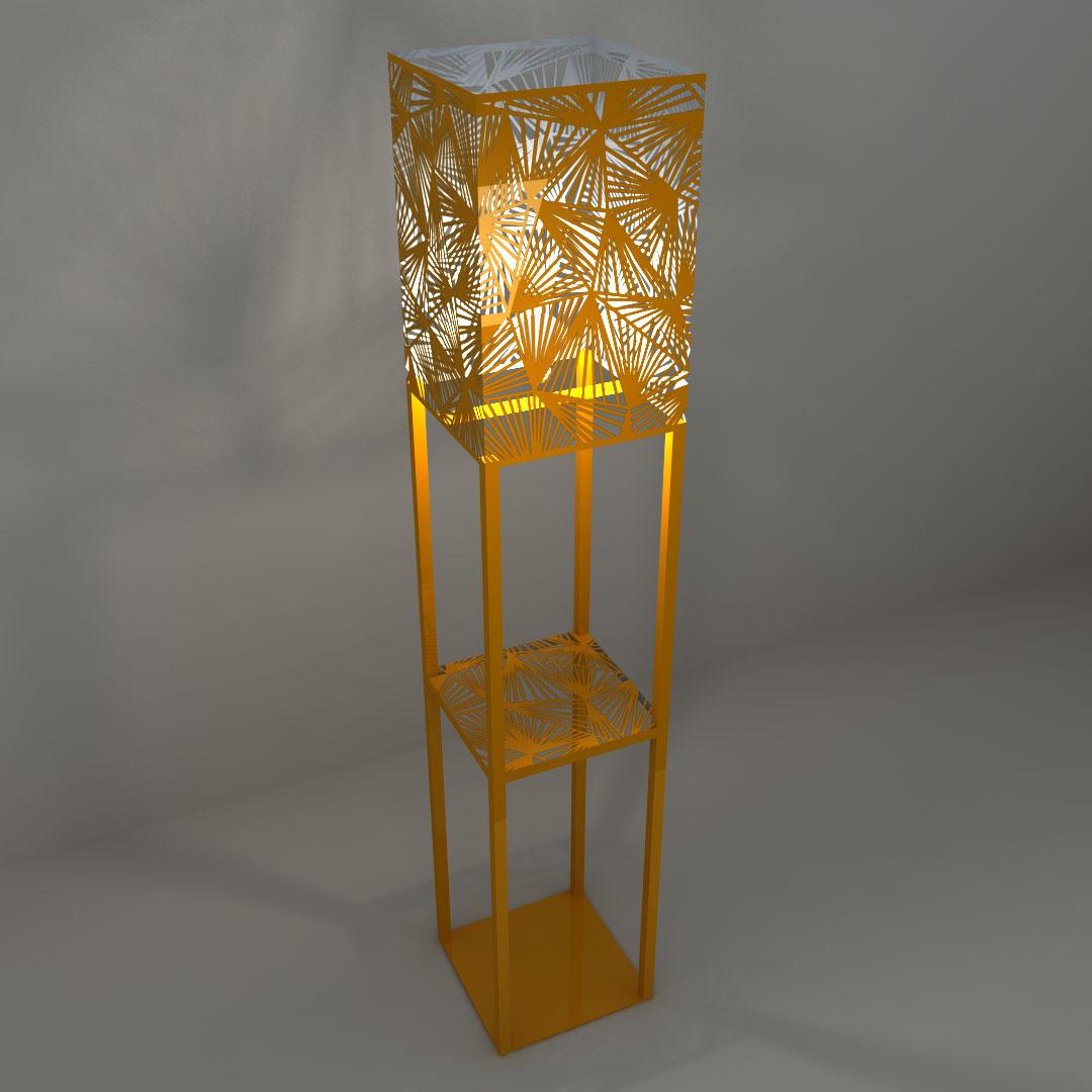 Светильник напольный «Торшер с треугольниками»