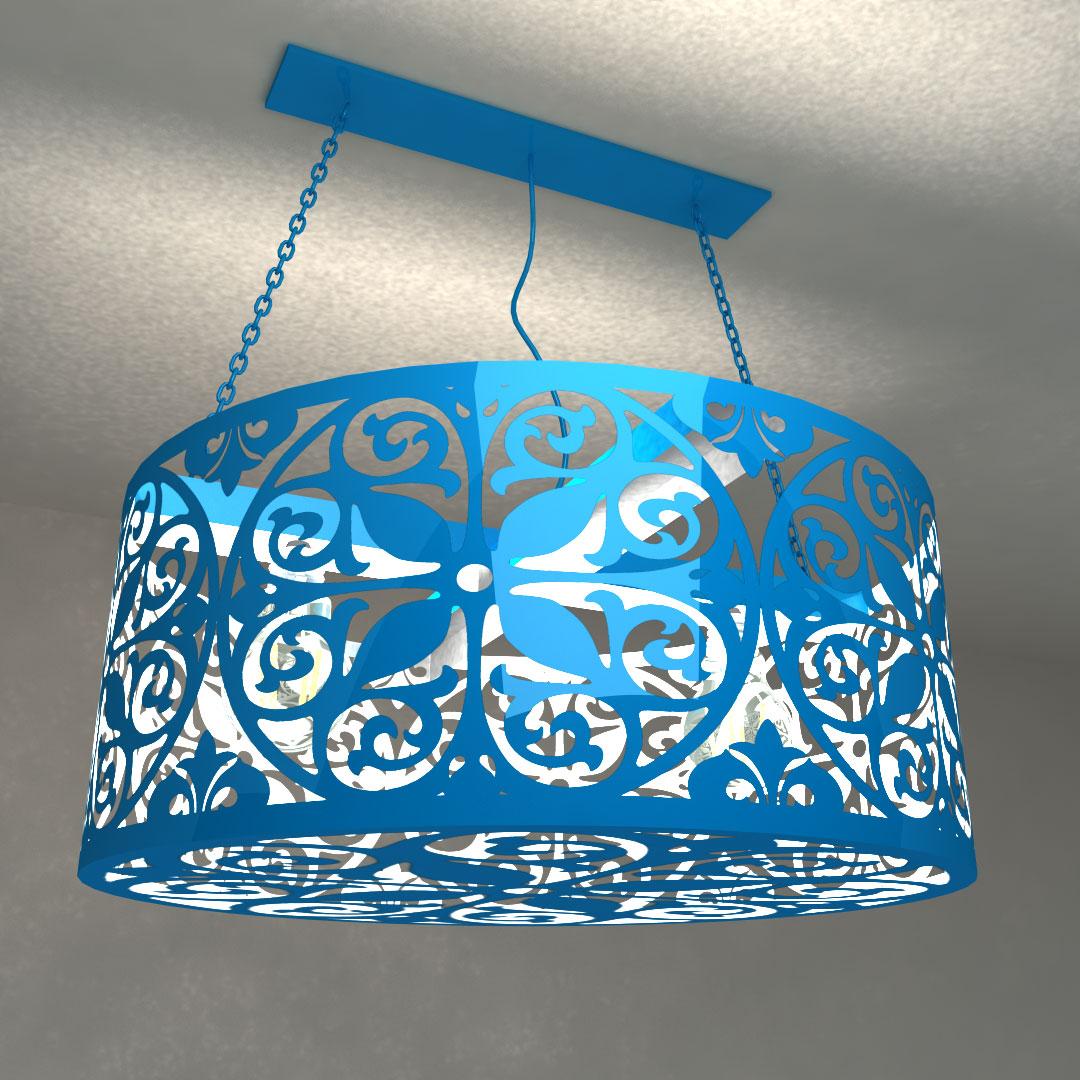 Светильник потолочный Цветочный цилиндр
