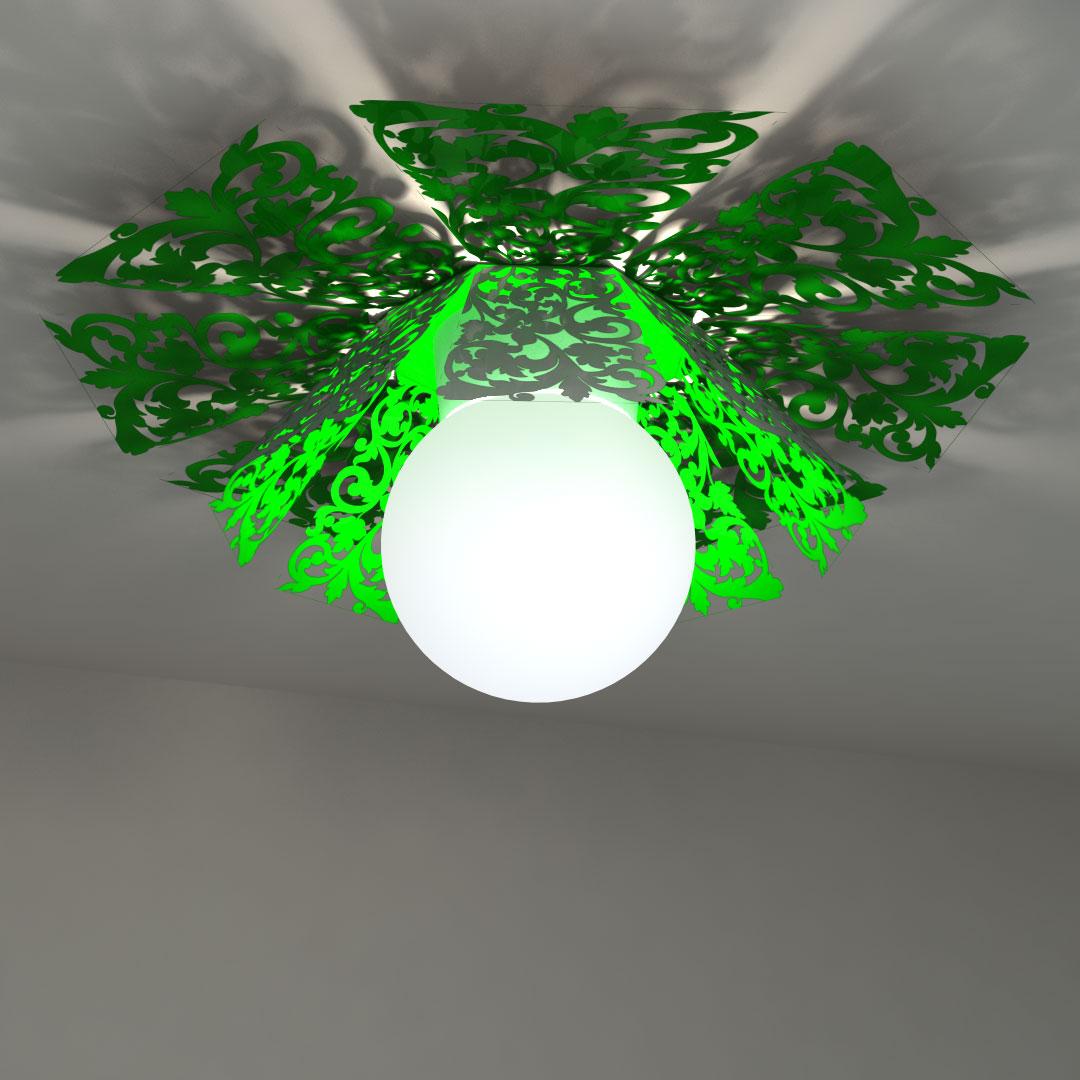 Светильник потолочный «Люстра-цветок»
