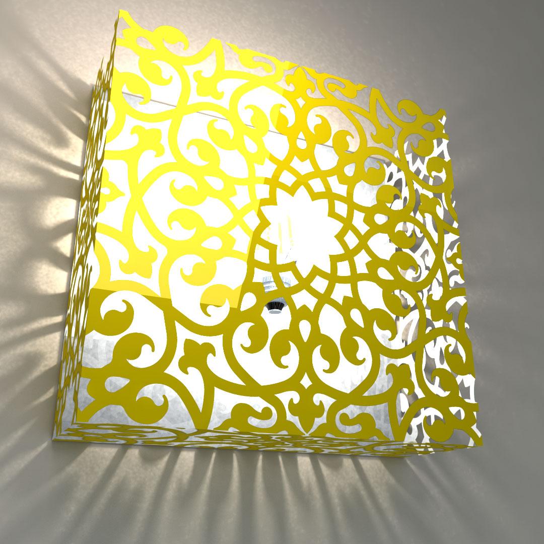 Светильник настенный «Люстра-цветок»