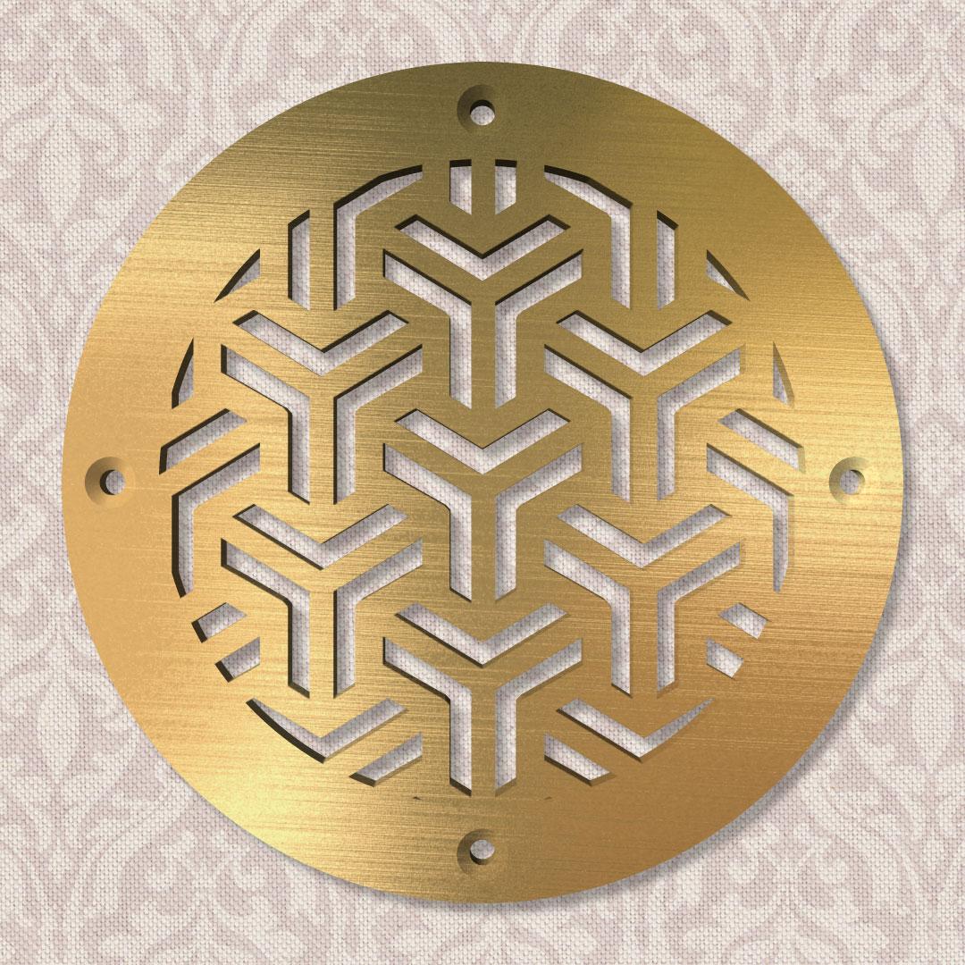 Вентиляционная решётка Ø 100 мм «Восточный орнамент» («East pattern»)