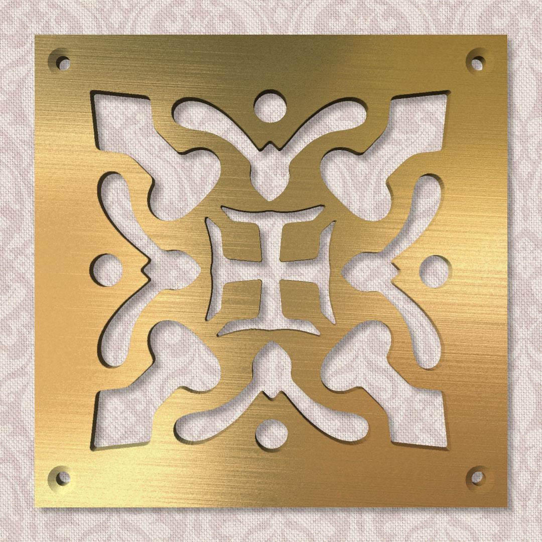 Вентиляционная решётка 100×100 мм «Орденская» («Order»)