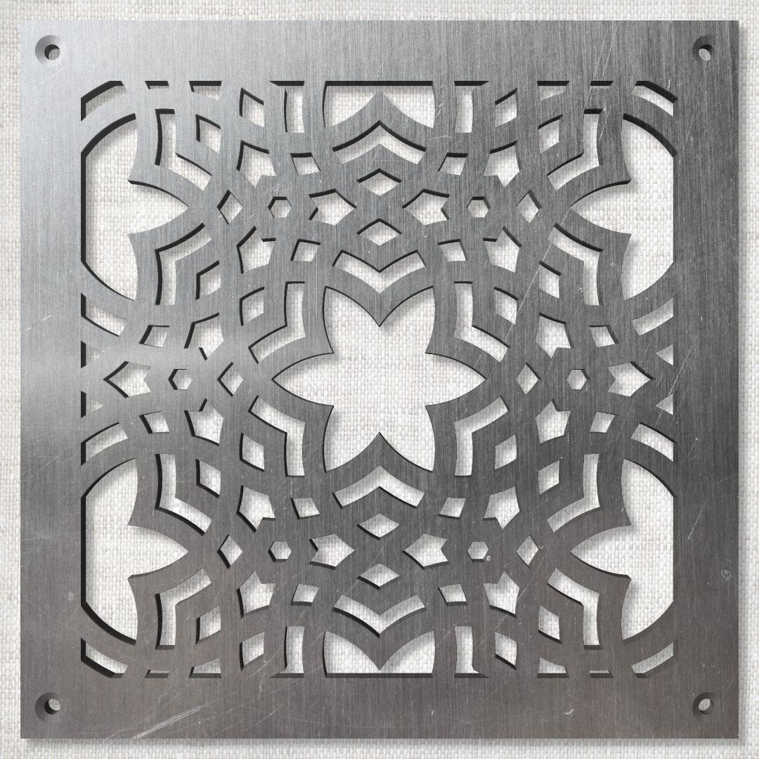 Вентиляционная решётка 150×150 мм «Арабский орнамент 01» («Arabian Pattern»)