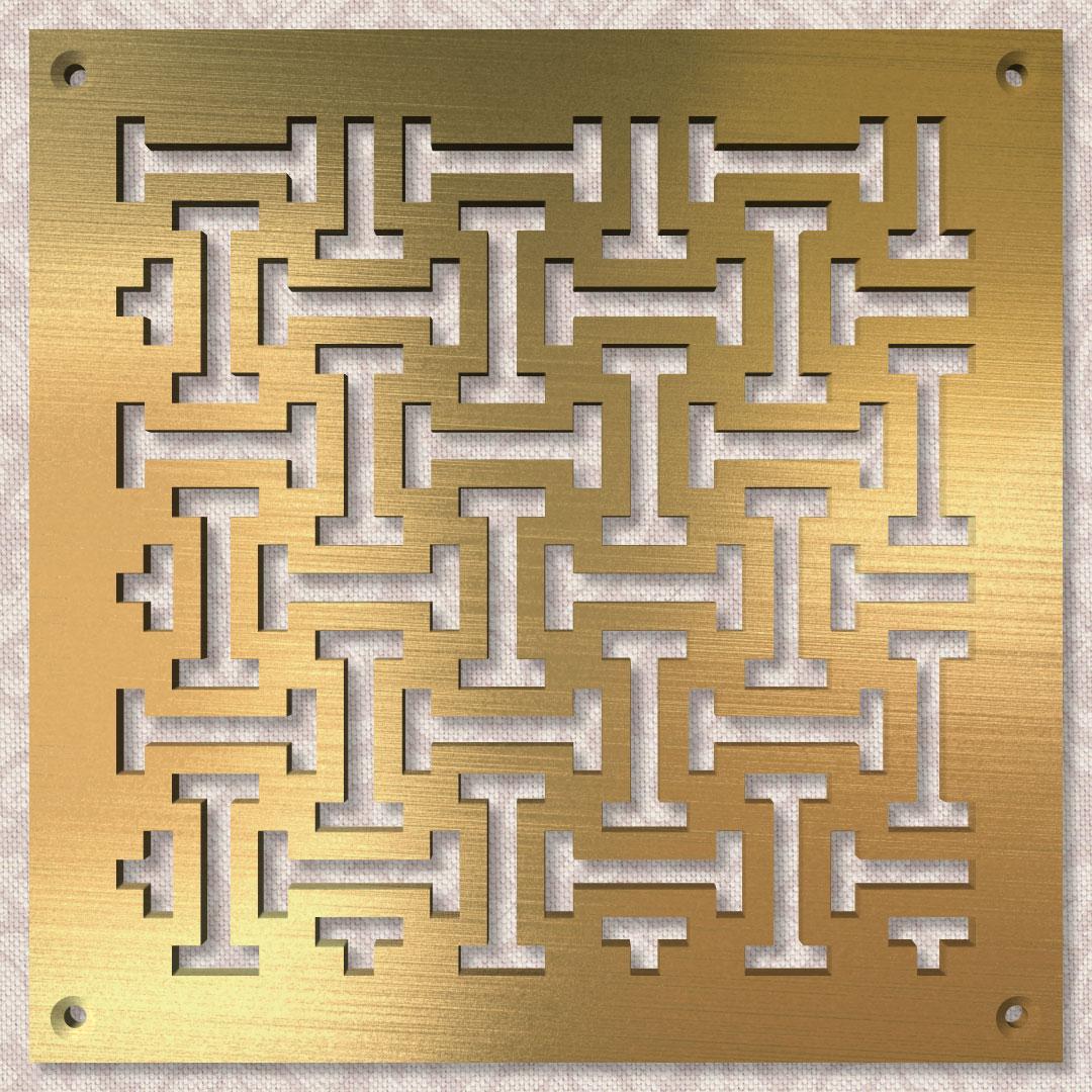 Вентиляционная решётка 150×150 мм «Простые гантельки» («Simple Dumbbells»)