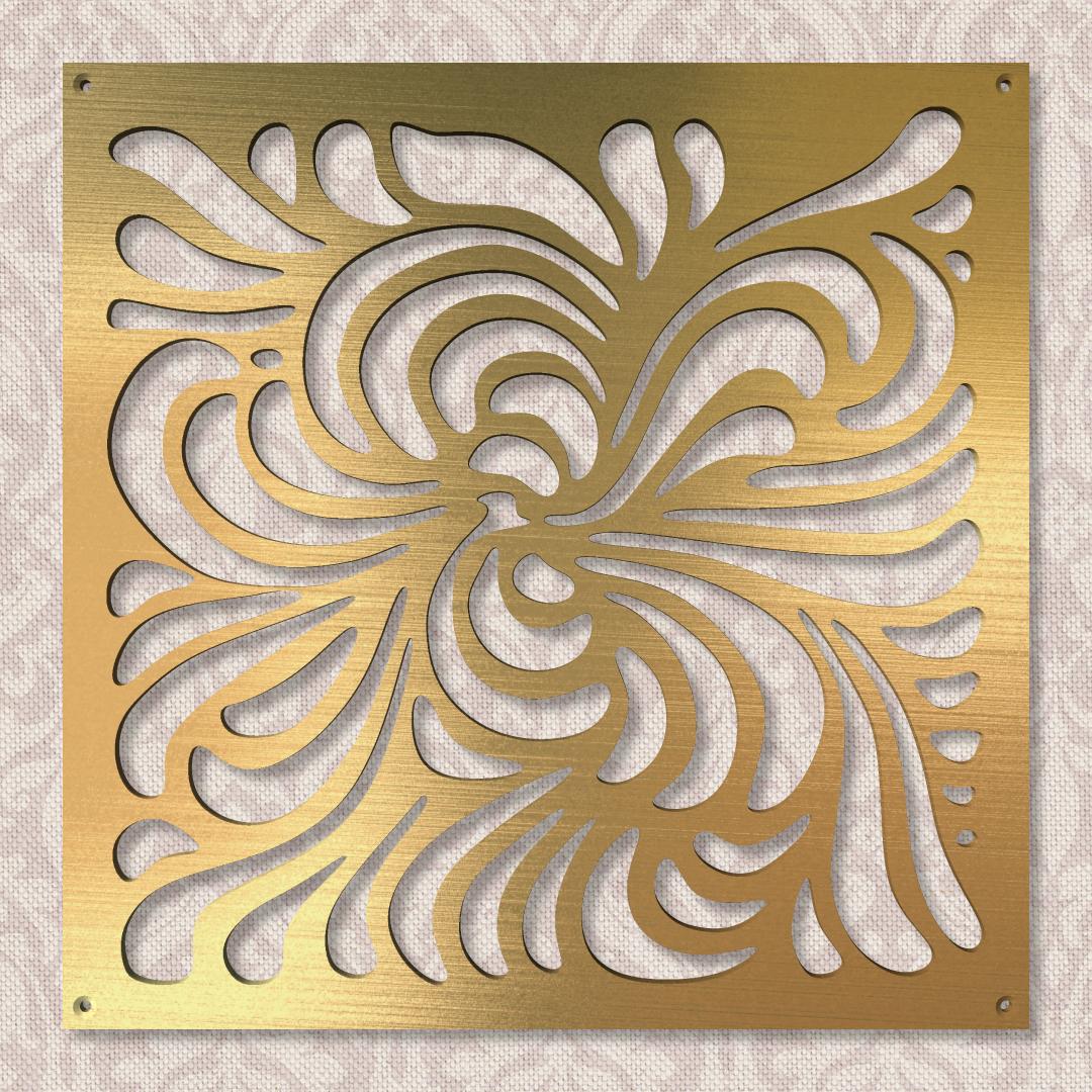Вентиляционная решётка 300×300 мм «Сказочный цветок» («Fairy Flower»)